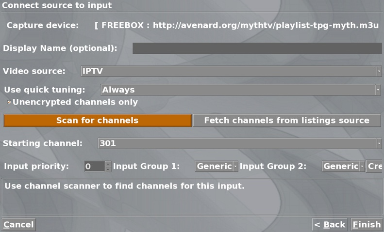How to watch TPG's IPTV with Myth TV